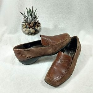 Vintage Mephisto Air Jet leather suede loafers